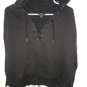 Slouchy hoodie.